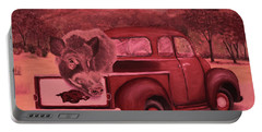 Ridin' With Razorbacks 3 Portable Battery Charger by Belinda Nagy