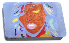 Rihanna Loud Portable Battery Charger by Stormm Bradshaw