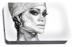 Rihanna Portable Battery Charger by Rafael Salazar