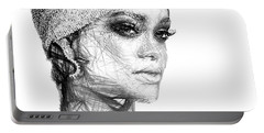 Rihanna Portable Battery Charger by Rafael Salazar