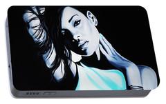 Rihanna Portable Battery Charger by Richard Garnham