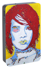 Rihanna  Portable Battery Charger by Stormm Bradshaw