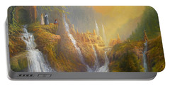 Rivendell Wisdom Of The Elves. Portable Battery Charger by Joe  Gilronan