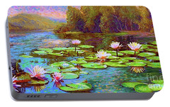 The Wonder Of Water Lilies Portable Battery Charger by Jane Small