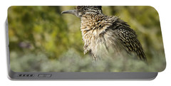 Roadrunner On Guard  Portable Battery Charger by Saija  Lehtonen