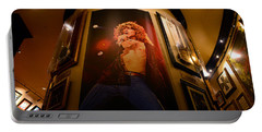 Robert Plant At The Hard Rock Portable Battery Charger by David Lee Thompson