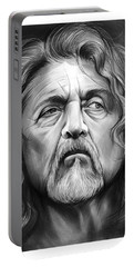Robert Plant Portable Battery Charger by Greg Joens