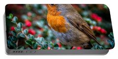 Robin Redbreast Portable Battery Charger by Adrian Evans