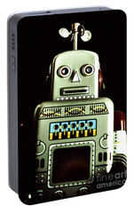 Robotic Spaceman Portable Battery Charger by Jorgo Photography - Wall Art Gallery