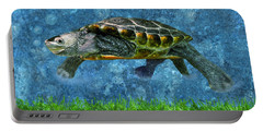 Rodney The Diamondback Terrapin Turtle Portable Battery Charger by Sandi OReilly