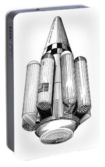Rombus Heavey Lift Reusable Rocket Portable Battery Charger by Jack Pumphrey