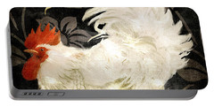 Rooster Damask Dark Portable Battery Charger by Mindy Sommers