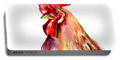 Rooster Portrait Portable Battery Charger by Suren Nersisyan