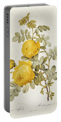 Rosa Sulfurea Portable Battery Charger by Pierre Redoute