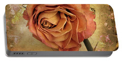 Rose  Portable Battery Charger by Jessica Jenney