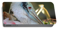 Roseate Spoonbill Profile Portable Battery Charger by Carol Groenen