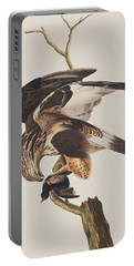 Rough Legged Falcon Portable Battery Charger by John James Audubon