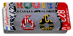 Route 66 Highway Road Sign License Plate Art Portable Battery Charger by Design Turnpike