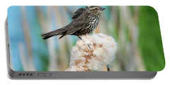 Ruffled Feathers Portable Battery Charger by Mike Dawson