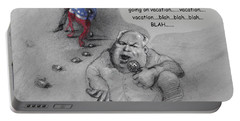 Rush Limbaugh After Obama  Portable Battery Charger by Ylli Haruni