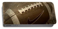 Rustic Football Portable Battery Charger by Amy Steeples