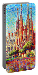 Sagrada Familia Portable Battery Charger by Jane Small