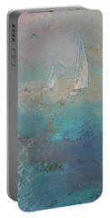 Sailboats Portable Battery Charger by Michael Creese