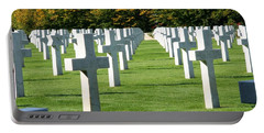 Portable Battery Charger featuring the photograph Saint Mihiel American Cemetery by Travel Pics