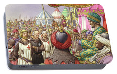 Saladin Orders The Execution Of Knights Templars And Hospitallers  Portable Battery Charger by Pat Nicolle