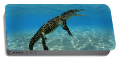 Saltwater Crocodile Portable Battery Charger by Franco Banfi and Photo Researchers