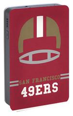 San Francisco 49ers Vintage Art Portable Battery Charger by Joe Hamilton