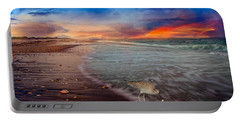 Sandpiper Sunrise Portable Battery Charger by Betsy Knapp