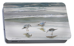 Sandpipers Portable Battery Charger by Julianne Felton