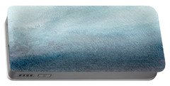Sandy Shore- Art By Linda Woods Portable Battery Charger by Linda Woods