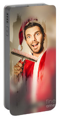 Santa Elf Preparing For Christmas Portable Battery Charger by Jorgo Photography - Wall Art Gallery