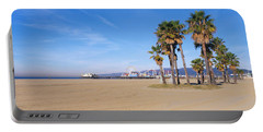 Santa Monica Beach Ca Portable Battery Charger by Panoramic Images