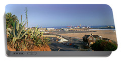 Santa Monica, Overlooking The Beach Portable Battery Charger by Panoramic Images