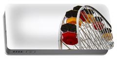 Santa Monica Pier Ferris Wheel- By Linda Woods Portable Battery Charger by Linda Woods