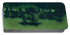 Scare In A Pack Train Portable Battery Charger by Frederic Remington