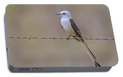Scissor-tailed Flycatcher Portable Battery Charger by Tony Beck