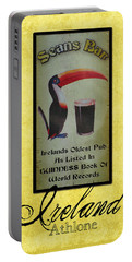 Seans Bar Guinness Pub Sign Athlone Ireland Portable Battery Charger by Teresa Mucha