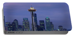 Seattle, Washington Skyline Portable Battery Charger by Panoramic Images