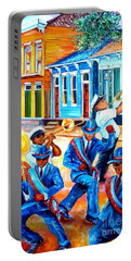 Second Line In Treme Portable Battery Charger by Diane Millsap