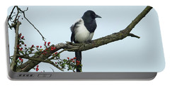 September Magpie Portable Battery Charger by Philip Openshaw