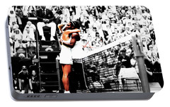 Serena Williams And Angelique Kerber 1a Portable Battery Charger by Brian Reaves