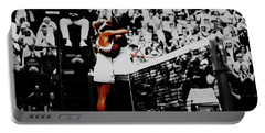 Serena Williams And Angelique Kerber Portable Battery Charger by Brian Reaves
