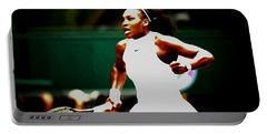 Serena Williams Making History Portable Battery Charger by Brian Reaves