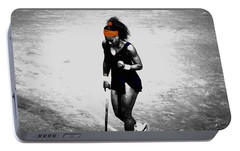 Serena Williams Match Point 3a Portable Battery Charger by Brian Reaves