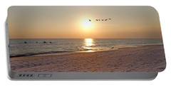 Shackleford Banks Sunset Portable Battery Charger by Betsy Knapp