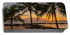 Sharks Cove Sunset 4 - Oahu Hawaii Portable Battery Charger by Brian Harig